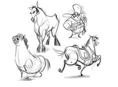 Horse Sketches by *AndyBarry on deviantART