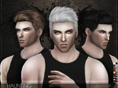 The Sims Resource: Stealthic – Haunting (Male Hair) • Sims 4 Downloads I will be using this!!!: