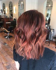 Red Balayage Hair, Dyed Blonde Hair, Dye My Hair, Hairstyles Haircuts, Pretty Hairstyles, Cabelo Rose Gold, Locks, Creative Hair Color, Honey Hair