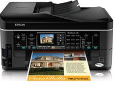 Epson WorkForce 645 Wireless All-in-One Color Inkjet Printer, Copier, Scanner, Fax, iOS/Tablet/Smartphone/AirPrint Compatible (C11CB86201). World's fastest all-in-one. 15 ISO ppm black, 7.2 ISO ppm color. High-speed Two-sided printing. 250-sheet paper tray,Wireless Wi-Fi (802.11 b/g/n). Low ink cost,Network Capable: Yes.