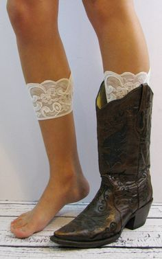 Lace Boot Cuffs (Pair) #bootcuffs