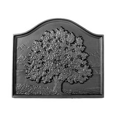 x Small Oak Fireback - modern - Fireplace Accessories - Shop Chimney Fireplace Feature Wall, Fireplace Grate, Small Fireplace, Fireplace Tools, Brick Fireplace, Fireplace Design, Prefab Fireplace, Pennsylvania, Cast Iron