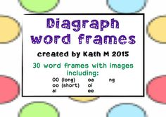 30 word frames for students to practice spelling words containing digraphs.  Laminate and use with my letter/number cards or a whiteboard marker.  Digraphs include oo (as in food), oo (as in book), oa, ai, ng, oi, ee.