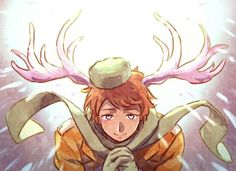 Hetalia Russia. Why does he have antlers?