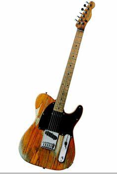 Bruce Springsteen's iconic 50's era Fender Esquire. Often mistaken as a Telecaster.
