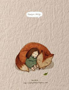 #sleep #cute #fox