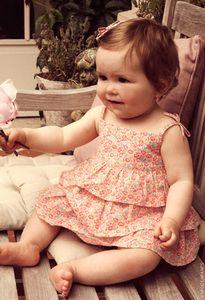 Troizenfants - Pink and blue liberty one-piece dress - 68533