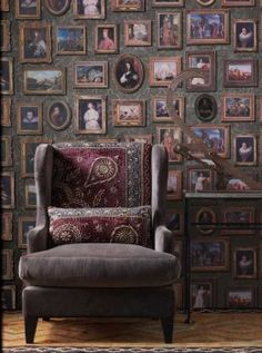 Gallery Wallpaper, yes it really is wallpaper, comes as a set of three rolls to ensure variation in the design. We just love this design, great to see something different but so effective.