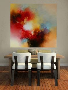 Large Canvas Abstract Painting By Simon door SimonkennysPaintings