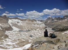Break on top of a high pass on the Pacific Crest Trail