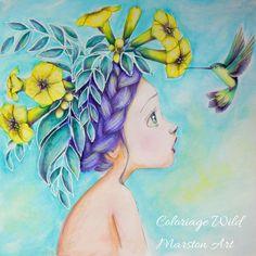 Coloriage Wild von Emmanuelle Colin, Malbuch koloriert von Marston Art