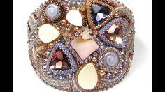 Triangle 18mm bezel bead embroidery Ann Benson