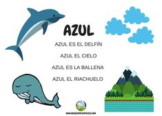 color azul Reggio Emilia, Hand Games, Spanish Vocabulary, Preschool Literacy, Spanish Lessons, Child Development, Early Childhood, Activities For Kids, Language