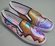 Custom Painted Sneakers | night owl hand painted shoes sneakers 5