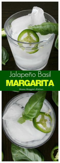 Jalapeño Basil Margarita is the perfect refreshing cocktail during warm weather months. By Mama Maggie's Kitchen