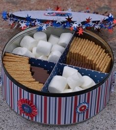 Festive July 4th S'mores tin!