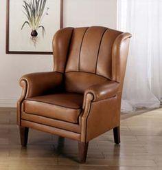 Clásico sillón de cuero. Cómodo sillón de bastidor - Utrecht