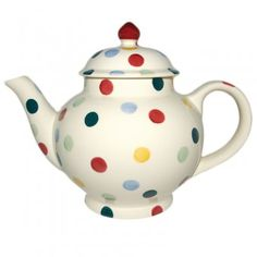 Emma Bridgewater Pottery Four Cup Teapot Polka Dot for sale online Emma Bridgewater Sale, Emma Bridgewater Pottery, Pottery Teapots, Ceramic Teapots, Teapots And Cups, Chocolate Pots, My Collection, Tea Time, Tea Party
