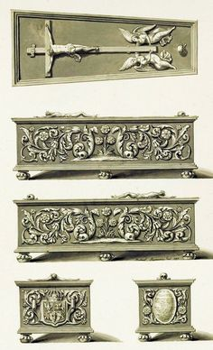 Tin sarcophagus of Anna of Austria with motif of the Tree of Life and the symbols of life and death by Anonymous from Gdańsk, after 1598, Katedra na Wawelu
