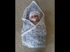 Crochet easy baby blanket with matching headband DIY tutorial