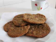 Cookies crocantes com gotas de chocolate - gordelicias.biz.