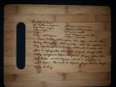 Custom cutting board for Kimberly from 3DCarving on Etsy