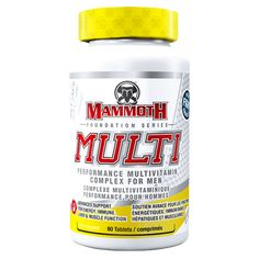 Anti-oxidant support, liver support, and men's vitality complex with Mammoth Multi Vitamin for men. Shop performance supplements now. Supplement Superstore, Vitamin Tablets, Foundation, Liver Detoxification, Multi Vitamin, Physical Stress, Muscle, Vitamins And Minerals, Serving Size