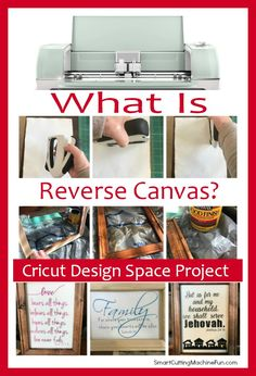 What is Reverse Canvas Project? Super simple Cricut Design Space Project that you can make today with HTV and canvas. You are going to love this!
