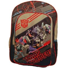"""Transformers 16.5"""" Backpack ~ Optimus Prime ~ Large Full Size by Transformers. $14.99. Polyester Construction , Polyester Lining     Adjustable Straps for a Personalized Fit     1 Main Compartment, Zip Closure     Exterior Features Front Pocket, Zip Closure     16"""" backpack"""