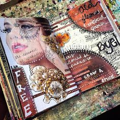 Working on these pages. I don't care if you consider yourself artistic or not… Art journals, journals in general, sketchbooks, whatever. They are like therapy. They help you realize what matters, and...