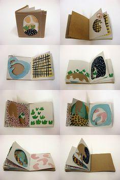 alison worman, book art, cut out Sketchbook Inspiration, Art Sketchbook, Sketchbook Project, Up Book, Book Art, Kids Crafts, Book Journal, Art Journals, Handmade Books