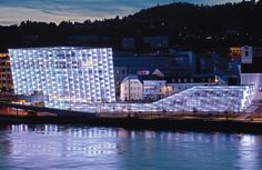 Ars Electronica Center in Linz, Austria Technology And Society, Retail Facade, Facade Lighting, World Of Tomorrow, World View, Electronic Art, Science Art, Austria, Europe