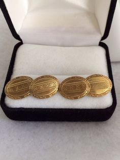 14k Gold Art Deco 1920s era Mens Cufflinks Beautiful age Patina