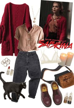 Inspired by Kiernan Shipka as Sabrina Spellman on Chilling Adventures of Sabrina. Discover outfit ideas for made with the shoplook outfit maker. How to wear ideas for Vanessa Mooney The Heart and Iridescent Black Vegan Combat Fall Outfits, Casual Outfits, Cute Outfits, Fashion Outfits, Fashion Boots, Witchy Outfit, My Outfit, Fandom Fashion, Nerd Fashion
