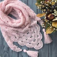 Bactus Neckerchief/Knitted shawl/Scarf/Knitted accessories/Handmade shawl/Women's shawl/Mini shawl/Triangular shawl/Warm shawl/ - Her Crochet Knitted Shawls, Crochet Scarves, Crochet Shawl, Crochet Clothes, Knit Crochet, Free Crochet, Knitting Accessories, Hand Knitting, Shawl Patterns