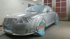 Audi TT - paint booth - clearcoat