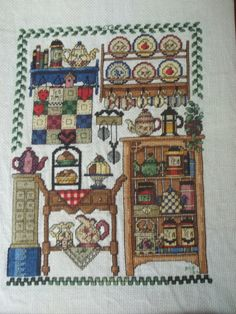 Kitchen cross stitch I made a few years ago....it was a pattern from Jeremiah Junction/Cross Country Stitching Magazine.