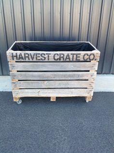 Harvest Crate Co Raised veggie garden Industrial cast iron castors for mobility