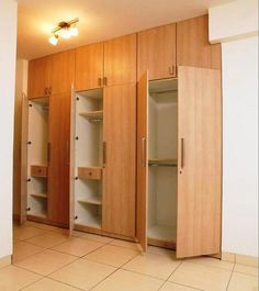 Modern Bedroom Cabinets clean white wardrobe with wooden handles | wardrobe | pinterest