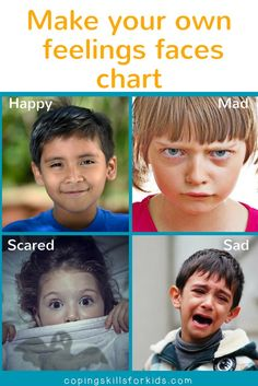 Make Your Own Feeling Faces Chart from copingskillsforkids.com | Coping Skills for Kids | Feelings Faces Activity | Feelings and Emotions Activity | DIY Feelings Faces Chart