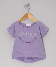 Take a look at this Lavender Smile Hi-Low Sweatshirt Top - Infant, Toddler & Girls by Sofi on #zulily today!