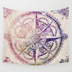 Voyager - compass tapestry