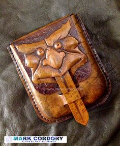 LARP - LRP Tooled leather pouch made by Mark Cordory Creations. www.markcordory.com