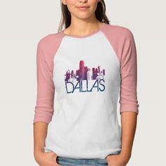 Dallas Skyline Design T Shirt, Hoodie Sweatshirt