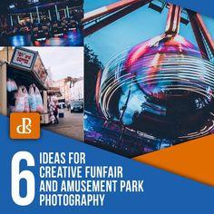 6 Ideas for Creative Funfair and Amusement Park Photography Park Photography, Exposure Photography, Photography Lessons, Photography Editing, Photography Ideas, Dynamic Action, Camera Movements, Digital Photography School, Quiet Moments