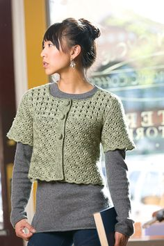 This crochet cardigan would be great for year-round wear. I'd pair it with long and short sleeved tops. Green Chai Cardi - Media - Crochet Me
