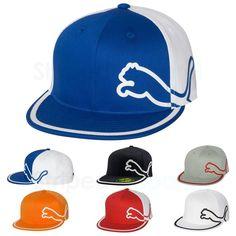 PUMA Monoline Fitted Cap Flat Bill Hat NEW Size S M L XL 2004   0d7cdb55e7f