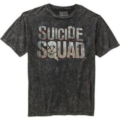 Suicide Squad Men's Graphic Logo Tee, Size: XL, Black