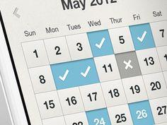 Kalender. Nedtryckt