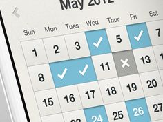 Dribbble - Fitness App Calendar UI by Brian Plemons